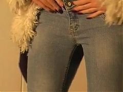 Kloe is left to pee in her jeans (wp-0796a)